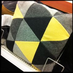 triangles wool felt pillow