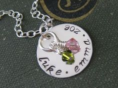 Hand Stamped Mommy Jewelry Personalized Sterling by hiphophippos