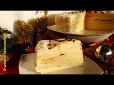 Tort cu multe foi si crema fina | Farfuria vesela - YouTube Cheesecake, Youtube, Desserts, Food, Tailgate Desserts, Deserts, Cheesecakes, Essen, Postres
