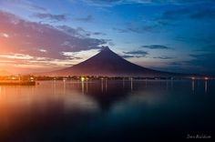 Dusk over Mt. Mayon, Albay, Philippines by Dexter Baldon, via 500px