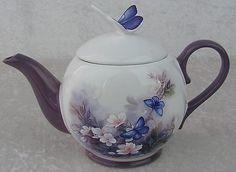 $35.00 Lena Liu Blossoms & Butterflies Collectible Teapot-Displayed Only-Teleflora