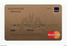 Bank ITAU PARAGUAY AVIO American Airlines Mastercard GOLD EXPIRED