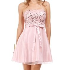 ❗️LOWEST PRICE❗️Light Pink Sequin & Sparkle Dress This dress is perfect for any dance, wedding, or formal event. The dress is strapless and sequin on the bodice while the skirt is satin underneath with a sparkly layer over top. The dress is a gorgeous baby pink (as shown on the model), but the color didn't show up as well on my camera. Only worn once, but it has been cleaned since and is in good condition. Feel free to contact me with any questions. ☺️ Dresses