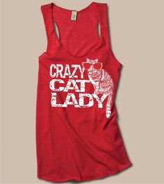 Crazy Cat Lady Tank Womens ecofriendly Racerback Tank by RCTees, $23.00