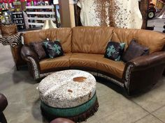 Beautiful leather/ cowhide couches!!