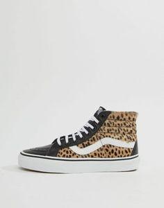 11db3c62696b1b Vans Leopard Print Sk8-Hi Reissue Sneakers