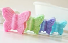 SPARKLY BUTTERFLY Natural Soap  ~ Choose Soap Color