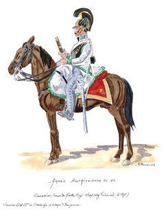 Austria; 4th Cuirassier Regt, Kronprinz Ferdinand, Cuirassier, Tenue de Route, 1812-15