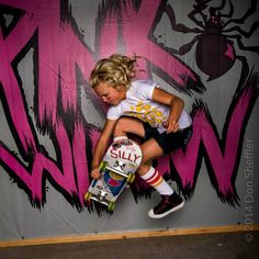 Silly Girl Bryce Wettstein showing off her boneless at the gypsy agenda show!!! The Silly Life Tee is available at Pink Widow  www.pinkwidowdistribution.com  Photo:Don Sheffler