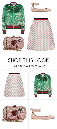 """Untitled #4005"" by michelanna ❤ liked on Polyvore featuring Gucci and AERIN"