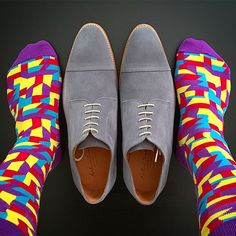 Shoes & Socks colorful combination.