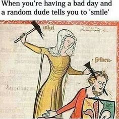 """17 Medieval Memes That'll Make You Wonder What In The Flying F*ck Was Going On Back Then - Funny memes that """"GET IT"""" and want you to too. Get the latest funniest memes and keep up what is going on in the meme-o-sphere. Renaissance Memes, Medieval Memes, Medieval Art, Medieval Drawings, Medieval Manuscript, Renaissance Art, Illuminated Manuscript, Memes Arte, Art History Memes"""