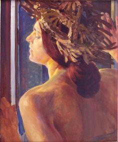Jacek Malczewski - Woman at the window (study)