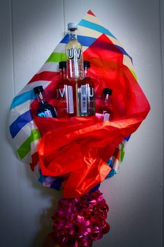 .:A Picture a Day Keeps the Doctor Away:..October.... | [a little pause] 21st Birthday Present! Mini alcohol bottle bouquet!