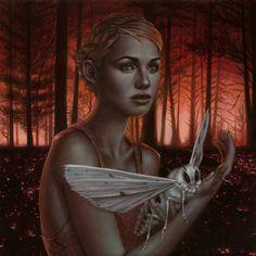 """Mutual Attraction"" by Casey Weldon Creepy Pictures, Dark Art Drawings, Photoshop, Mini Canvas Art, Bee Art, Goth Art, Pop Surrealism, Art For Art Sake, Weird World"