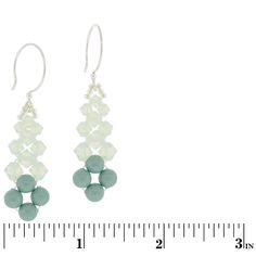 Never Too Jaded Earrings | Fusion Beads Inspiration Gallery Materials: 8-6mm round beads, 6-6mm Swarovski elements, 6- 5mm Swarovski, 6- 4mm Swarovski