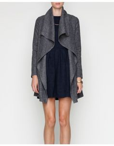 Draped Wool Jacket