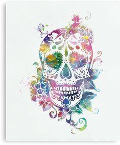 Sugar Skull #sugarskull #dayofthedead #art #metal #print #gift #ideas #candyskull #mexican #skull #symbol #religion #muertos #colorful #calavera #tattoo #culture #roseskull #skeleton #halloween #mexico #flower #dark #gothic