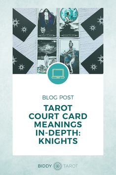 One of the most common challenges for those learning Tarot is understanding the Court Cards. In this blog we'll focus on the Knights of the Tarot, to help you understand how you can interpret these Tarot cards in your readings. #tarotcards #biddytarot #courtcards #knights #tarotlove #tarot #learntarot #tarotreaders #mastertarot