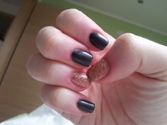 black/gold My Nails, Black Gold, Beauty, Beleza, Cosmetology