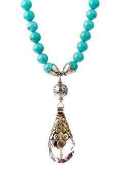 HauteLook | mariechavez: Holiday Gifting: Turquoise & Tibetan Crystal Pendant Necklace