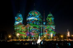 Berliner Dom /// Berlin Cathedral Church @ Berlin FESTIVAL OF LIGHTS 2011. Designed by Teresa Mar. (c) Festival of Lights / Christian Kruppa #Berlin #FestivalofLights #BerlinerDom #BerlinCathedralChurch