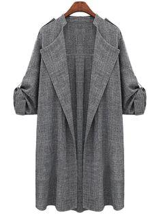 bbb2b166e73b Fashion Grey Cardigan Hijab 2016, Long Cardigan, Waterfall Cardigan, Trench  Coats, Women s
