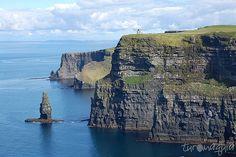 Uma das atrações mais visitadas da Irlanda - Cliffs of Moher