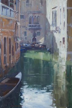 Ken Knight, Venice, oil on board, 75x50cm, $8000 (1158)