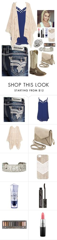 """""""You're Sketchier Than Rodeo Ground"""" by dirtroaddime ❤ liked on Polyvore featuring Rock Revival, Naked Zebra, MANGO, Kate Spade, Benefit, Urban Decay and MAC Cosmetics"""