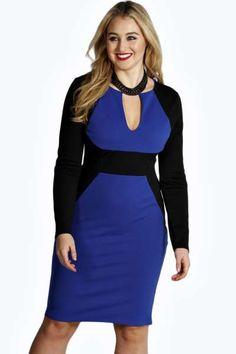 LOVEE TTHIISSS-->Sophia Contrast Panel Dress at boohoo.com
