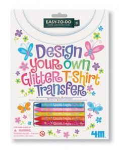 Turn a plain T-shirt into something everyone admires! Simply iron it onto your T-shirt and create your very own sparkling design.