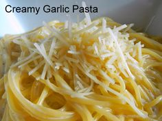 Num's the word: We make this one pot garlic and cheese pasta at least once a month.  Easy and tasty!