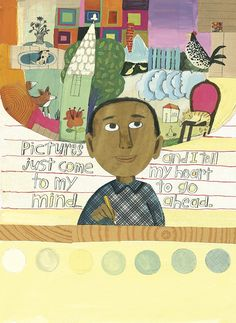 ) My Prints Will Come – Melissa Sweet Horace Pippin, Christian Robinson, Melissa Sweet, Make A Character, Veterans Day, Book Illustration, The Life, Painting & Drawing, Amazing Art