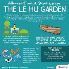 The Le Hu Garden, taman yang jauh dari pusat Kota Medan dan asyik untuk hunting foto, prewed dan wisata edukasi. Segera atur jadwal untuk berlibur ke sini!  #phinemo #infographic #travel #traveling #indonesia