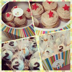Mini mocha cupcakes n' vanilla cakepops