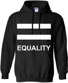 LGBT GIFT HOODIE: Equality Lgbt Pride  Gay Hoodie  by ALLGayTees