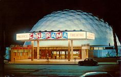 In the very early 80's 2 fellow snack bar workers and I got to be usherettes for ET and Grease II. geodesic cinema. (Now an Arclight Movie Theatre complex)