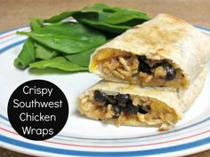 Crispy Southwest Chicken Wraps- 4th all time most popular recipe on Love to be in the Kitchen!