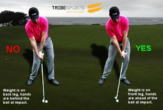 Weight forwards. Check out Zach Barons guest post on common golf swing mistakes