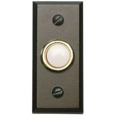 Lighted Button Doorbell from the Mission Collection The Mission style curb appeal captures the best of the American Arts