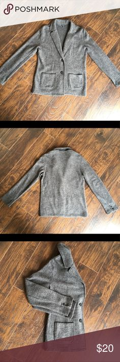 100% Wool Coat 100% wool grey jacket with two packets. Great mint conditions! Size M but I am size S and was wearing it as a oversized coat (just an idea))) boutique brand Rafaella. Jackets & Coats Blazers