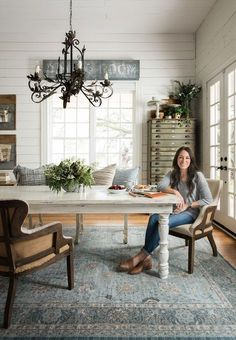 27 Ideas Farmhouse Dining Room Decor Joanna Gaines Home Magnolia Home Rugs, Magnolia Homes, Magnolia Farms, Magnolia Fixer Upper, Magnolia Market, Magnolia Kitchen, Joanna Gaines Rugs, Joanna Gaines Farmhouse, Joanna Gaines Style