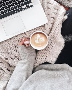 cosy at home with coffee, blankets & netflix