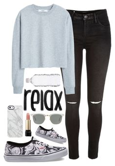 """""""one more day to enter the contest"""" by the-fashion-baby ❤ liked on Polyvore featuring River Island, MANGO, Vans, Uncommon, Lancôme and Ray-Ban"""