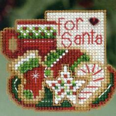 For Santa Beaded Christmas Ornament Kit Mill Hill 2013 Winter Holiday - $4.99