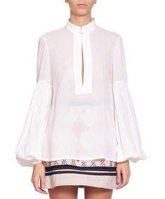 Cotton gauze blouse