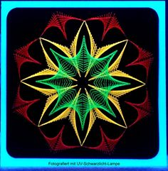 Fadengrafik+Karte+Geometrie+13+NEON+UV+Licht+Garn+von+Rene´s+Fadengrafiken+auf+DaWanda.com
