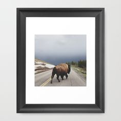 "We will follow you, sir. Kevin Russ' ""Street Walker"" framed art print is a popular standout. Available in several colors and sizes at Society6."