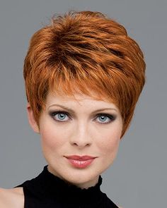 Heather by Envy Wigs - Mono Top, Lace Front, Hand Tied, Human Hair, Synthetic Blend Wig - hair styles I like - Frisuren Hairstyles Over 50, Short Hairstyles For Women, Wig Hairstyles, Hairstyle Ideas, Hairstyle Short, Black Hairstyles, Wedding Hairstyles, Trendy Hairstyles, Asymmetrical Hairstyles